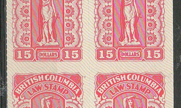 British Columbia #BCL65 1981 $15 Plate Block (4)