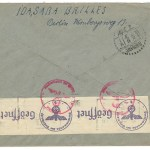 Shanghai incoming 24 Jan 1941 25pf Censored Cover via Siberia
