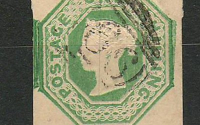 Lot 122 G.B. #5 Fine Used 1847 1/- Pale Green US$900