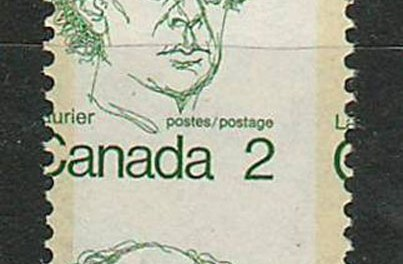 Canada #5871973 2c Laurier Dramatic Misperf