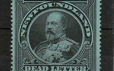 Newfoundland #OX1i VF Mint 1905 Edward VII Official Seal