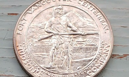 U.S.A. MS62 1925 Fort Vancouver Centennial Silver 50 Cents