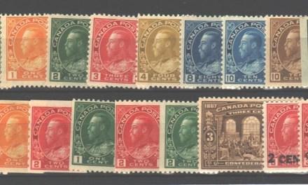 Canada #104/140 1911/26 Admirals (18 diff)