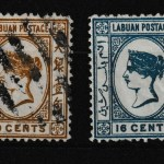 Labuan #8, 10 Fine+ Mint & Used 1880/81 duo
