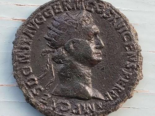 Domitian, as Augustus 81-96 AD 13gm AE Dupondius
