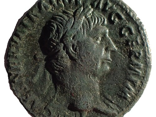 Trajan 98-117 AD 10.6gm AE27 struck at Rome w/ Victory etc