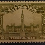 Canada #159 VF Mint 1929 $1 Parliament selected for centering