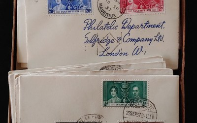 1937 Coronation Selfridge's Covers/FDCs in original box (206)