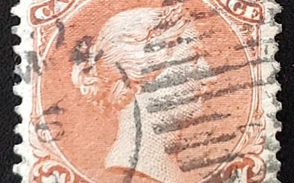 Canada #22ii VF 1868 1c Bothwell Paper ex Siverts