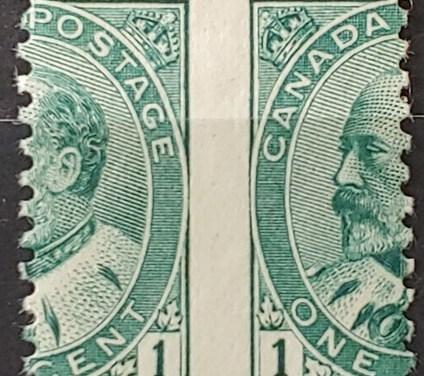 Canada #89MP VF Mint 1903 1c Edward VII Dramatic Misperf ex Penko