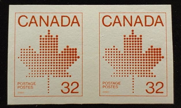 Canada #951a VFNH 1983 32c Maple Leaf Imperforate Coil Pair