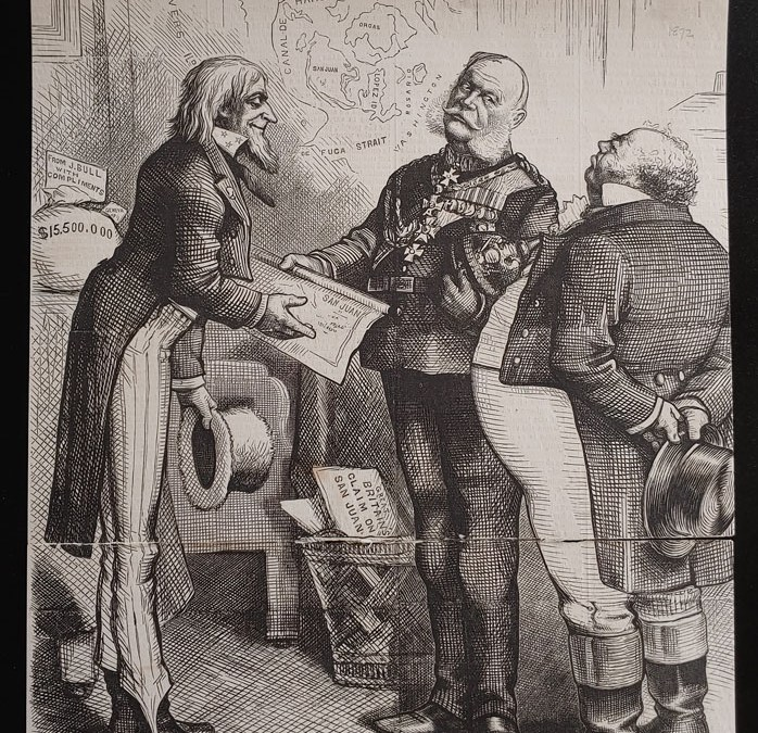 1859 Correspondence between Harney and Douglas Sht and 1872 cartoon