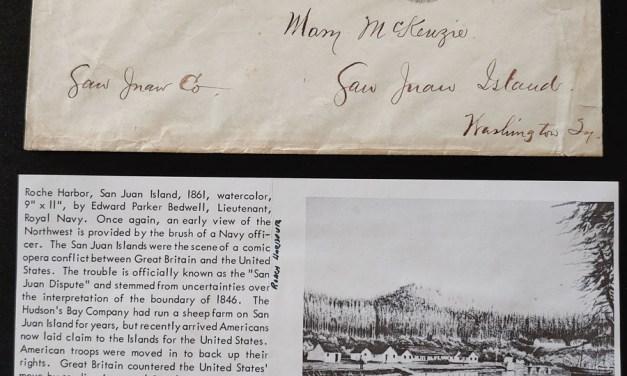 1870 Washington, D.C. 6c #10 Cover to Mary Mckenzie San Juan Island