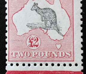 Australia #102 Fine+ Mint HR 1930 2 Pounds Roo