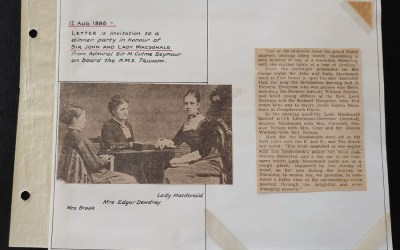 Sir John & Lady Macdonald 1886 Dinner Party Invitation to O'Reilly from Admiral