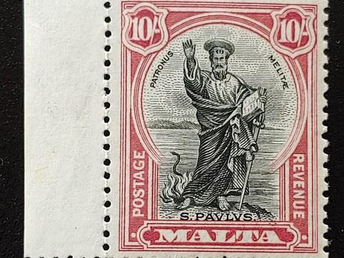 Malta #183 1930/32 10/- St. Paul