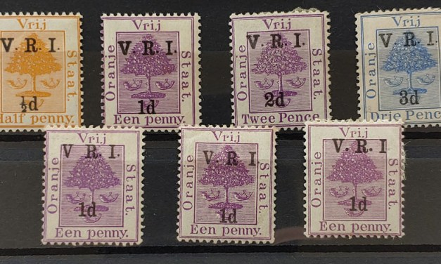 O.R.C. #44r/48h, 45d-m Mint 1900/01 Varieties (7 diff)