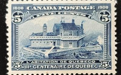 Canada #99 VFNH 1908 5c Quebec