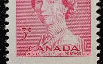 Canada #327MP Never Hinged 1953 3c Karsh Misperf