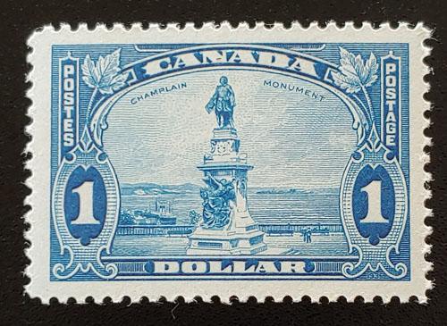 Canada #227 VFNH 1935 $1 Champlain shade