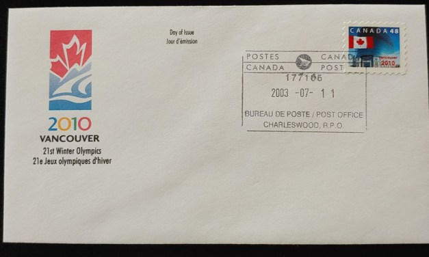Canada #1991 11 Jl 2003 Vancouver 2010 private FDC less than 100 known