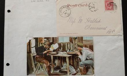 Log Cabin, B.C. 26 My 1905 2c Card and Hibben Mining Card ex Wellburn