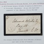 London, U.C. 30 Au 1854 3d Stampless MP Mourning Cvr ex Wellburn
