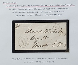 London, U.C. 30 Au 1854 3d Stampless MP Mourning Cvr ex Wellburn