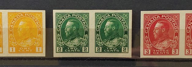 Canada #136-138 VFNH Admiral Imperforate Pairs Set (6)