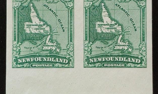 Newfoundland #163c VFNH 1929/31 1c Imperforate Pair