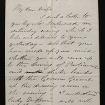 Marcus Smith 1 Fe 1875 C.P.R. Engineer 3.5pg letter to his wife