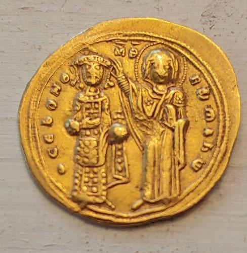 Romanus III Argyrus 1028-1034 AD 4gm Gold Histamenon Nomisma