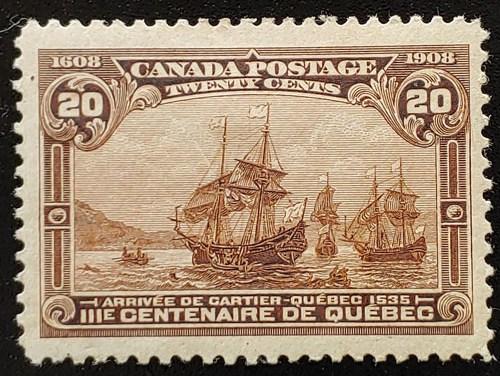 Canada #103 VF Mint 1908 20c Quebec Tercentenary