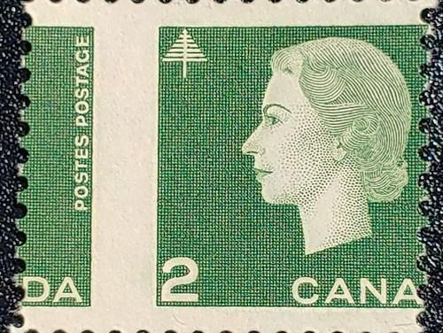 Canada #402 Never Hinged 1963 2c Cameo Misperf ex Penko
