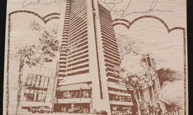 Pierre Trudeau Autographed 1973 Hyatt Regency Vancouver Program