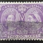 Canada #62 F/VF Used 1897 $2 Jubilee, fresh colour