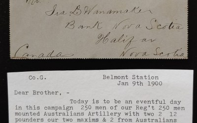 Boer War 11 Ja 1900 Orange River 1d Cdn Contingent Letter Card
