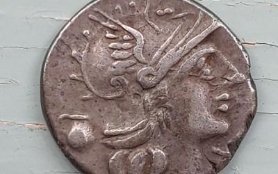 Sextus Pompeius Fostlus 37BC 4gm Silver Denarius