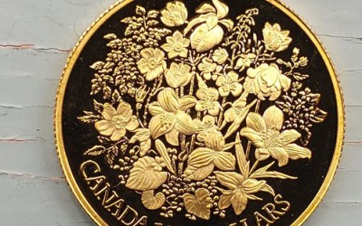 Canada Proof 1977 1/2oz QEII Jubilee Floral $100 Gold