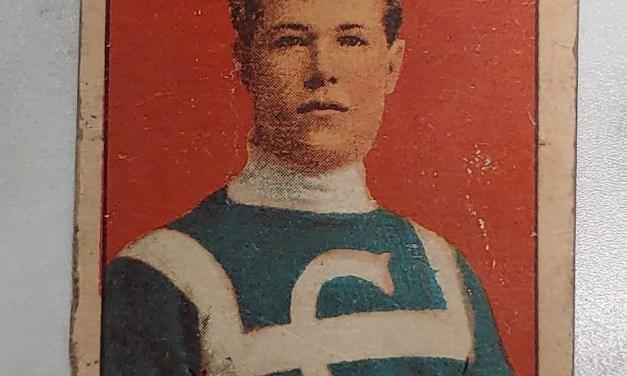 Skinner Poulin C-56 1910/11 #24 Rookie Hockey Card, faults