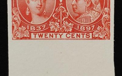 Canada #59P VF 1897 20c bottom margin Plate Proof