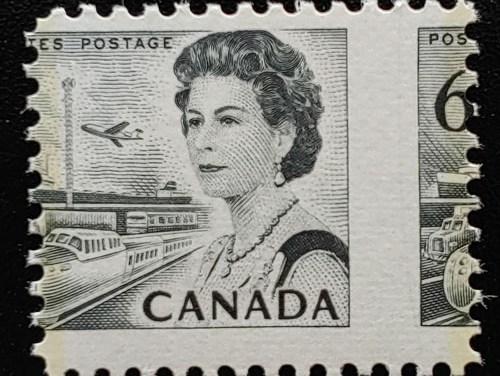 Canada #460 Never Hinged 1970 6c Misperf, ex Penko