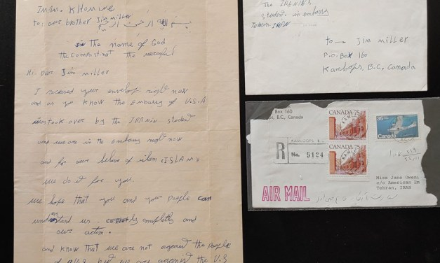 1979 Iranian Hostage Crisis Cover and Letter to B.C. w/ documentation