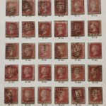G.B. #33 Used 1858/64 1d Reds Plates 147/182 on page (36)