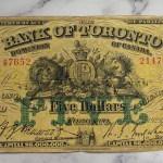 Bank of Toronto VG 1929 $5 Bill