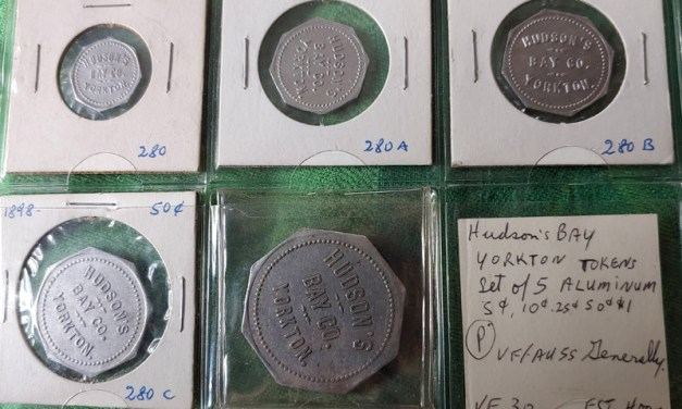 Hudson's Bay Company 1898/1918 Yorkton 5-token Set