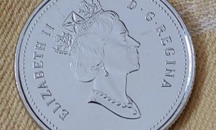 Canada Unc 1999 undenominated November 25 Cents Mule error