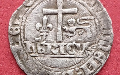 Henry VI (as King of France 1422-1453 AD)Rouen Mint Grand Blanc