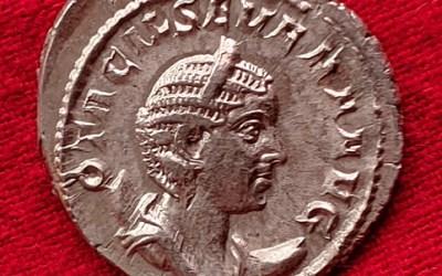 Otacilia Severa 244-249 AD Silver Antoninianus w/ Pietas