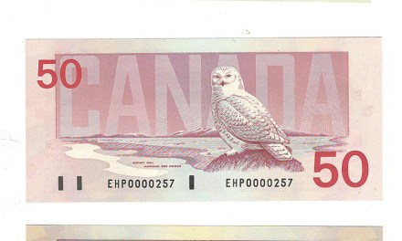 Canada Unc 1986/91 Low Serial Number $5-$100 Birds banknotes (7)